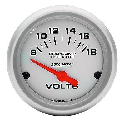 Auto Meter 4391 Ultra-Lite Electric Voltmeter Gauge: Automotive