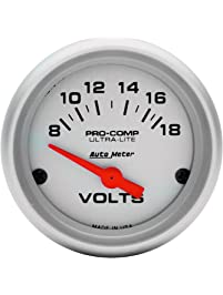 Auto Meter 4391 Ultra-Lite Short Sweep Electrical Voltmeter Gauge