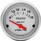 Auto Meter 4391 Ultra-Lite Electric Voltmeter Gauge, Regular, 2.3125 in.