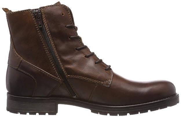 amp; Noos Bottes Jack Leather Bottines Boot Jones Jfworca Cognac AqwqOxWSan