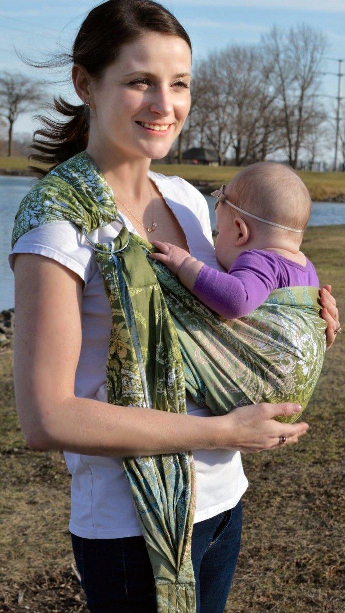 Lite-on-Shoulder Baby Sling Ergonomic, Cotton , Adjustable Baby Carrier product image