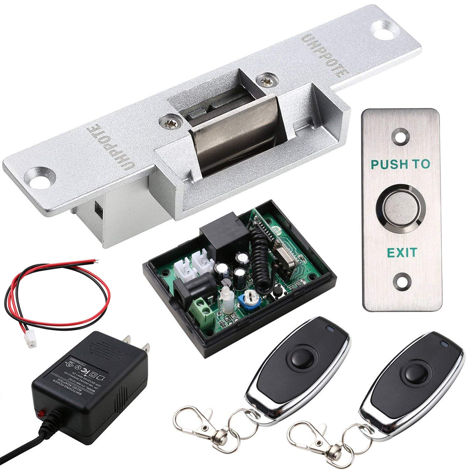 Uhppote Door Access Control With Electric Strike Lock Wireless Electrical Panel Wiring Youtube Free Download Diagrams Receiver And Remote Kit