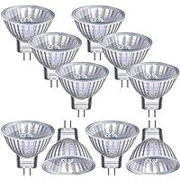 Vicloon MR11/GU4 Lámpara Halogena,10 Pack Luz Halógeno 12V