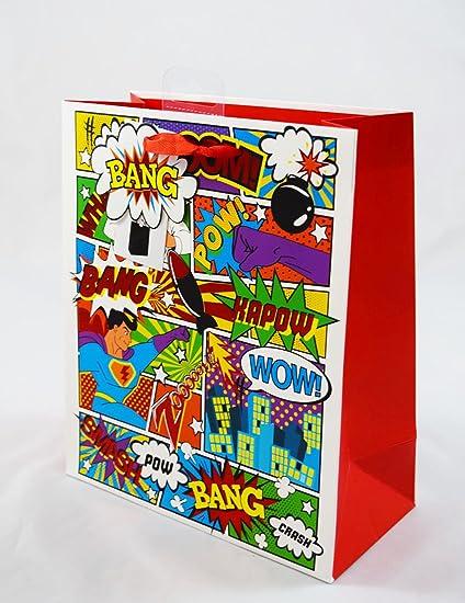 Comic Bolsa de regalo grande Marvel Boom WOW Bang fiesta de ...