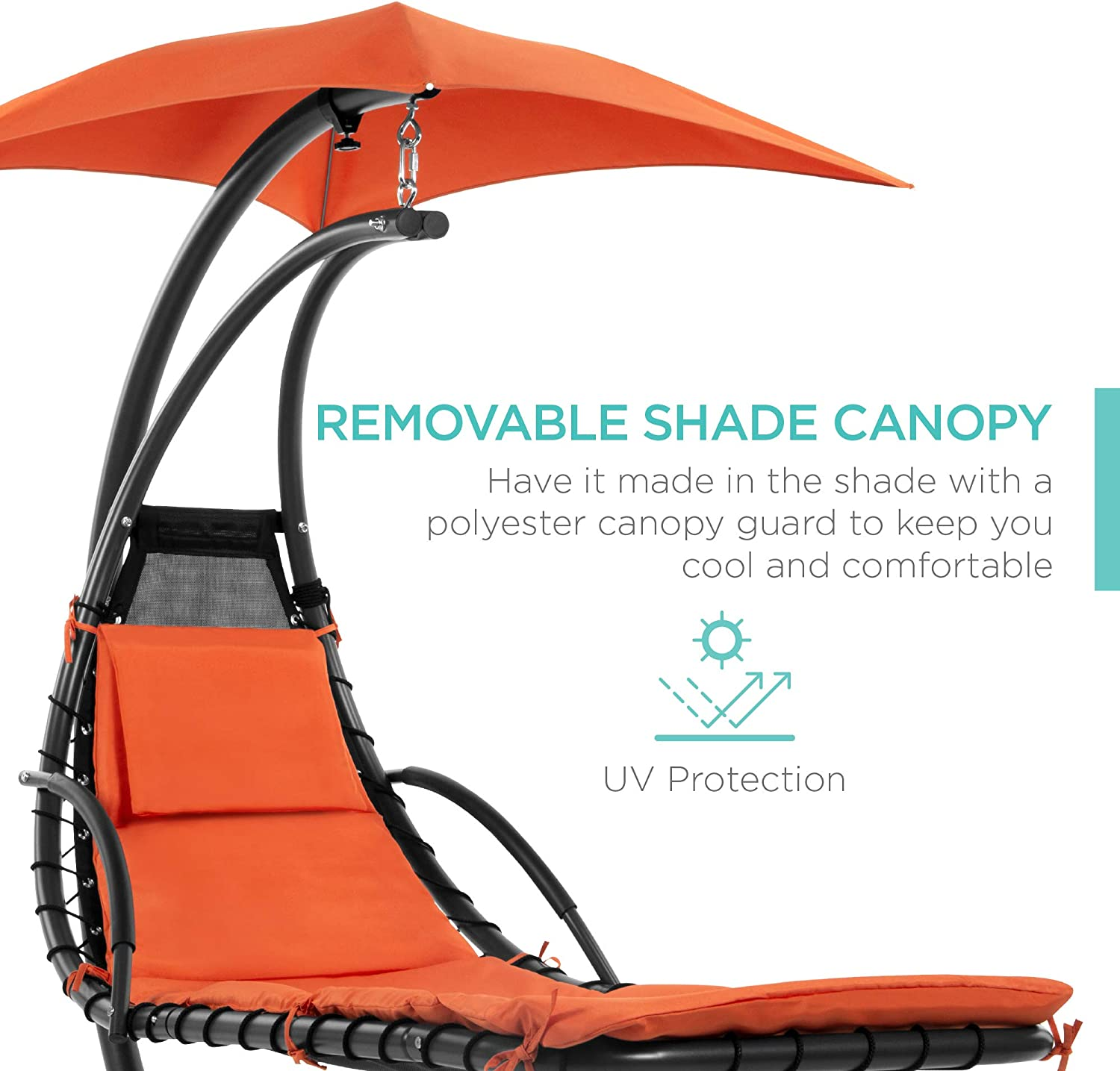 Best Choice Products Helicopter Swing Hammock Chair - Orange