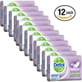 Dettol Anti-Bacterial Hand and Body Bar Soap, Sensitive, 110 Gr / 3.88 Oz (Pack of 12)