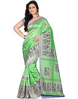 dacc730a9 E-Vastram Women s Art Mysore Printed Silk Saree (Ns3A Pink Free Size ...