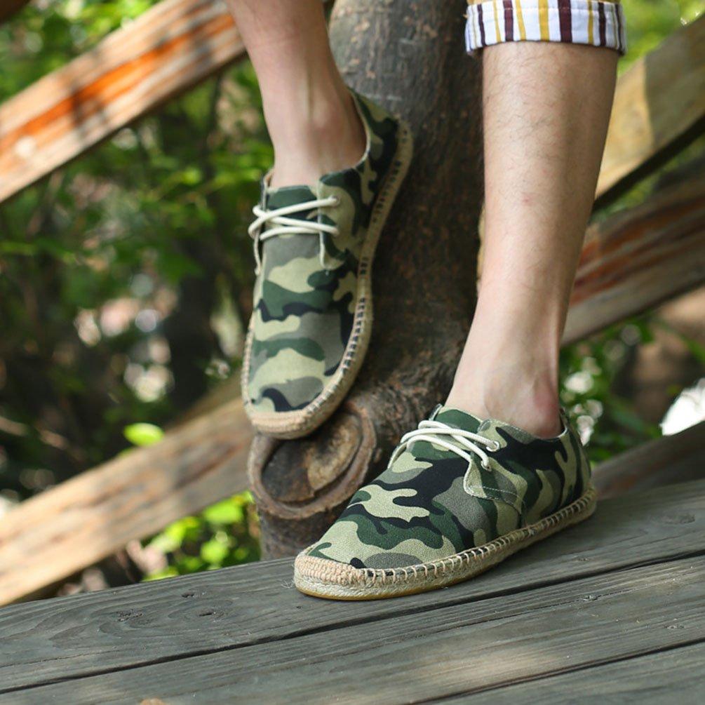 YOUJIA Hommes Classique Espadrilles Camouflage Respirant Plat Moccasins
