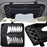 CD Visor Organizer,Car Sun Visor Tissue Bag Multi