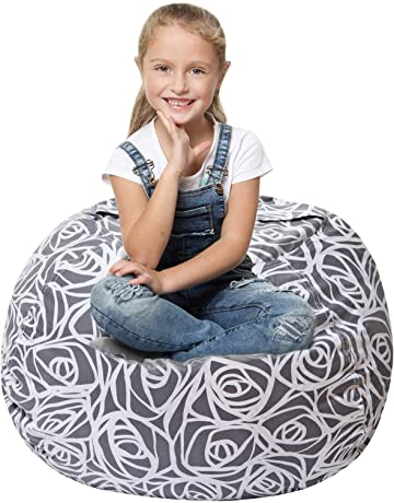 Stuffed Animal Storage Bean Bag   Cover Only   Large Beanbag Chairs For Kids    90