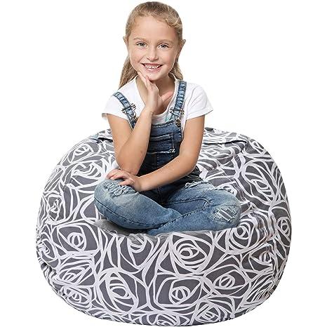 5 STARS UNITED Stuffed Animal Storage Bean Bag - Large Beanbag Chairs for  Kids - 90 5e2c58cda000f