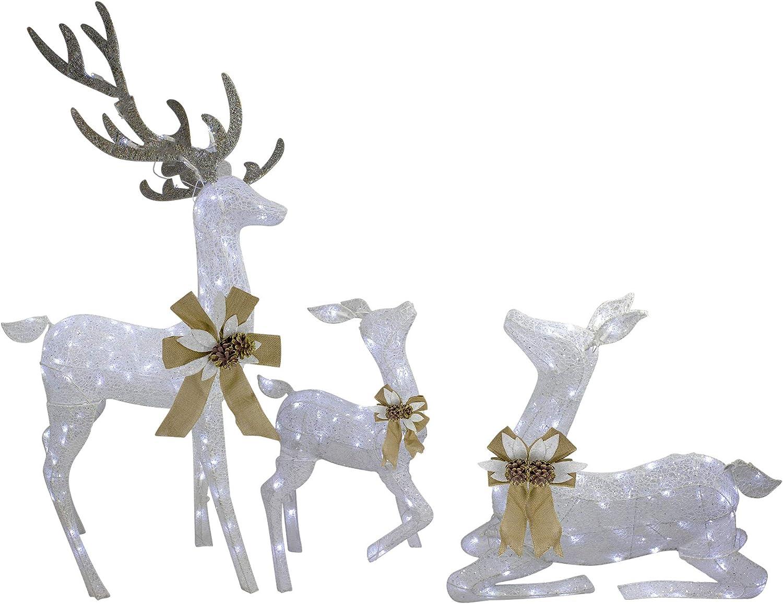 Amazon Northlight 3pc White Deer Family LED Lighted