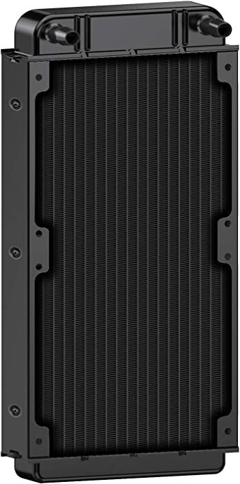 Clyxgs Water Cooling Radiator, 18 Pipe Aluminum Heat Exchanger Radiator for PC CPU Computer Water Cool System 240mm