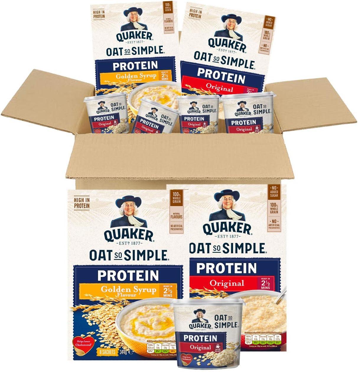 Quaker - Caja de gimnasio con proteínas de avena