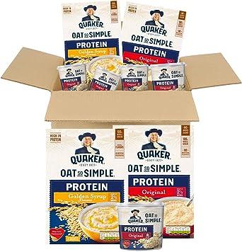 Quaker - Caja de gimnasio con proteínas de avena: Amazon.es ...