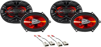"""Boss 5x7/"""" Rear Factory Speaker Replacement Kit+Harness For 1999-2003 Ford F-150"""