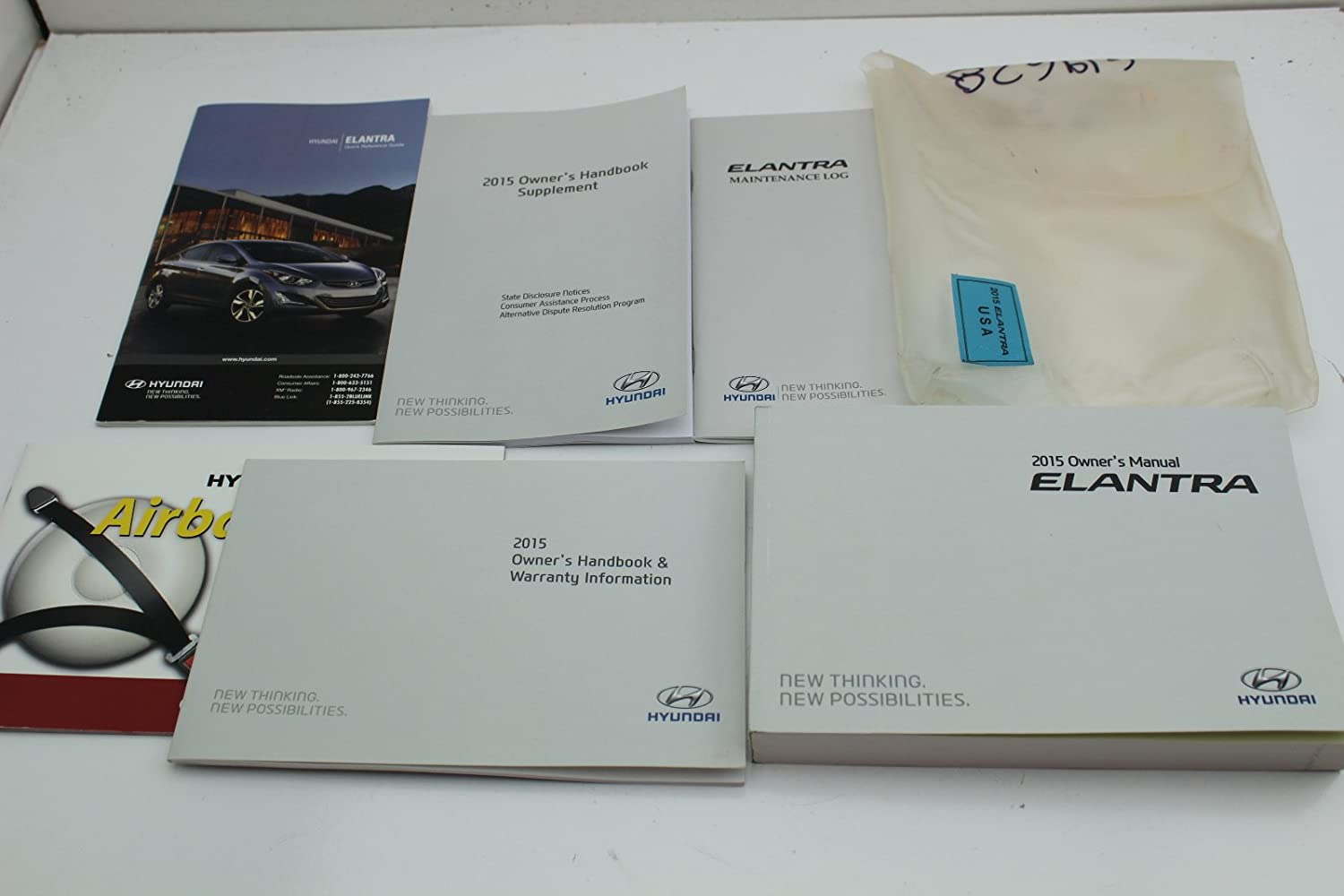 15 Hyundai Elantra Vehicle Owners Manual Handbook Guide Set: Amazon