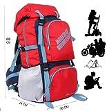 POLE STAR ROCKY Polyester 60 Lt Red Rucksack/ Travel / Hiking / Weekend backpack bag