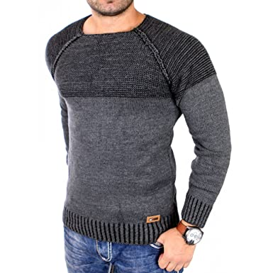 240471772ed8 Reslad Strickpullover Pullover Herren Winter Pullis versch. Farben    Modelle 16081 Anthrazit S