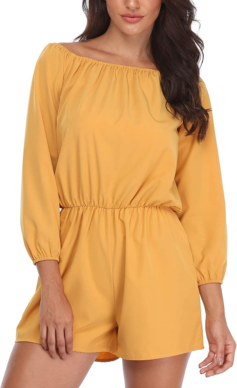 MISS MOLY Jumpsuits Women Off Shoulder Playsuit Rompers for Beach