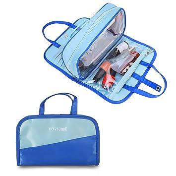 34ac0b1ccae6 Amazon.com   Travel Portable Cosmetic Makeup Bag Pouch Waterproof  Drawstring Bag Organizer Toiletry Bags for Women Girl