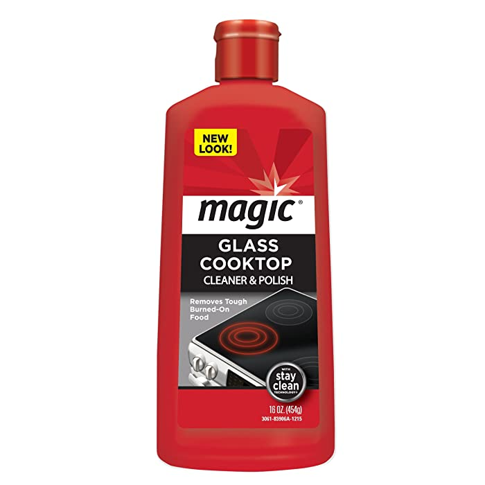 Magic Glass Cooktop Cleaner and Polish - 16 Ounce -Professional Home Kitchen Cooktop Cleaner and Polish Use On Induction Ceramic Gas Portable Electric