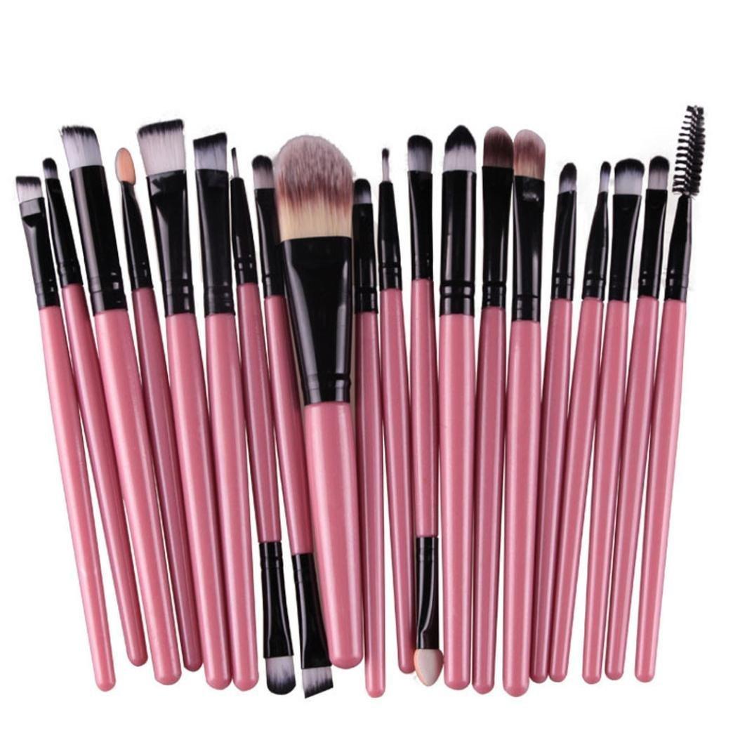 Cdet 20PCS Brosse ombre à oeil Professionnel Teint Eyebrow Shadow Makeup Blush Kit Pinceau Ensemble brosse à maquillage Brosse à maquillage Maquillage Outils