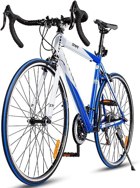 Bicicleta de carretera Goplus Shimano 700C de aluminio de 21 ...