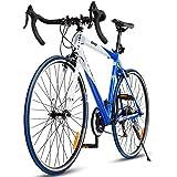 Goplus Road Bike Commuter Bike Shimano 700C Aluminum 21 Speed Quick Release Racing Bicycle