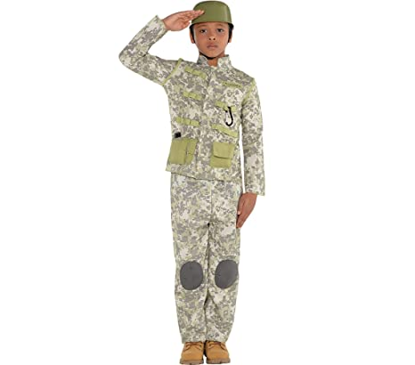 amscan combat soldier halloween costume for boys medium with included accessories