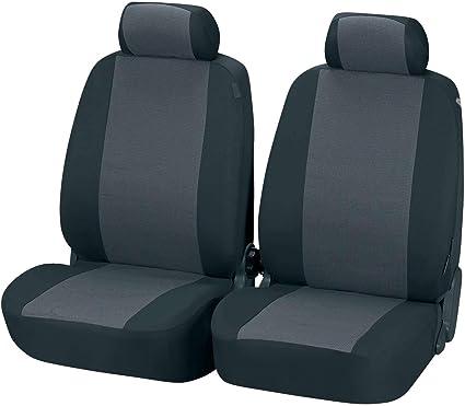 Schwarz-blaue Velours Sitzbezüge für KIA CARENS Autositzbezug VORNE
