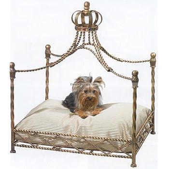 Amazon.com : Luxury Iron Royal GOLD CROWN Dog / Pet Bed