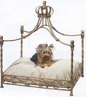 Luxury Iron Royal GOLD CROWN Dog / Pet Bed Jeweled Antique Victorian  sc 1 st  Amazon.com & Amazon.com : Royal Splendor Pet Metal Canopy Bed Small Dog Cat ...