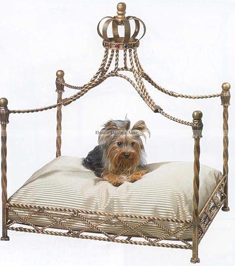Amazon.com: Hierro de lujo Royal corona de oro perro/mascota ...