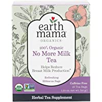 Earth Mama Organic No More Milk Tea Bags for Weaning from Breastmilk, 16-Count