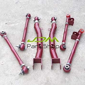 6 Pcs Rear Lateral Link+Trailing Arm Kit Suspension For