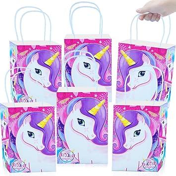 German Trendseller® 24 x bolsitas de regalo unicornio ┃para llenarlo┃los colores del arco iris┃ fiestas infantiles┃ idea de regalo┃piñata┃cumpleaños ...