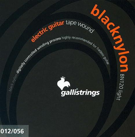 Amazon.com: CUERDAS GUITARRA ELECTRICA - Galli (BN120) Black Nylon Light (Juego Completo 012/056E): Musical Instruments