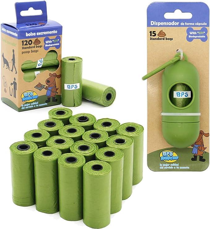 BPS 240/255 Bolsas de Caca Biodegradables para Perro, Bolsas para ...