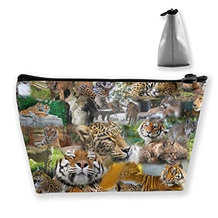 c86ace8d2b49 Amazon.com: TR2YU7YT Cute, Wildlife, Zoo Animals Toiletry Bag ...