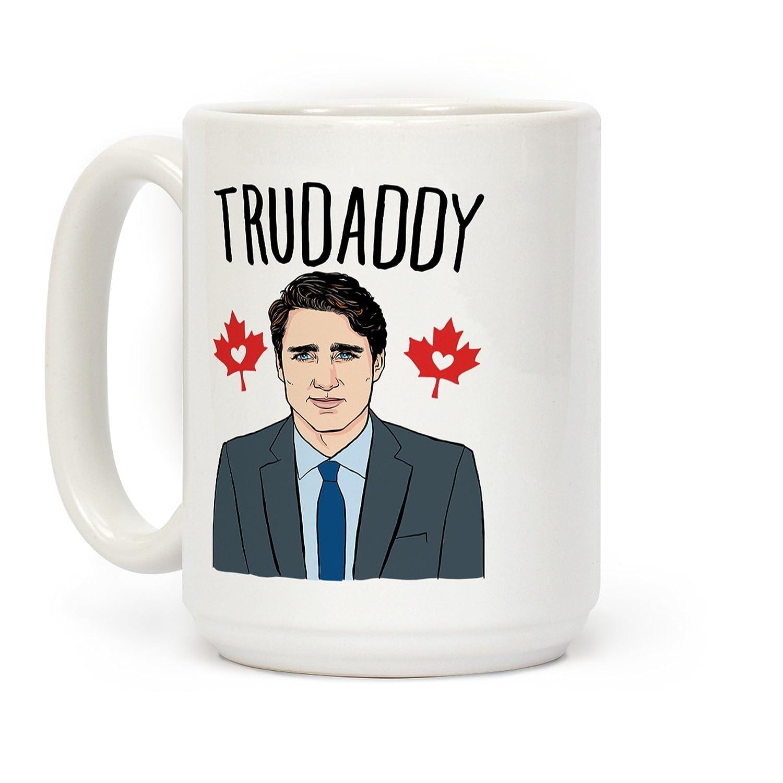 LookHUMAN Trudaddy White 15 Ounce Ceramic Coffee Mug