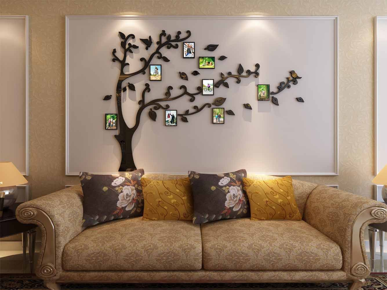 3d Picture Frames Tree Wall Murals for Living Room Bedroom Sofa Backdrop Tv Wall Background, Originality Stickers, Wall Decor Decal Sticker (50(H) x 70(W) inches) by DecorSmart (Image #3)