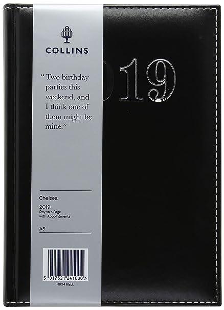 Collins ND54 2019 - Agenda diaria (tamaño A5, año 2019 ...