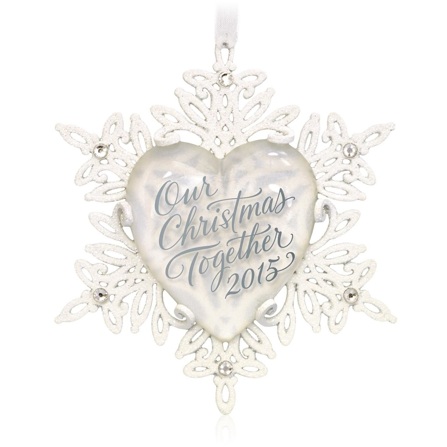 Amazoncom Our Christmas Together Snowflake Ornament 2015