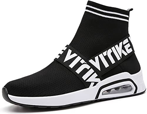Boys Kid's High Top Socks Shoes Casual Sports Athletic Breathable Sneaker New