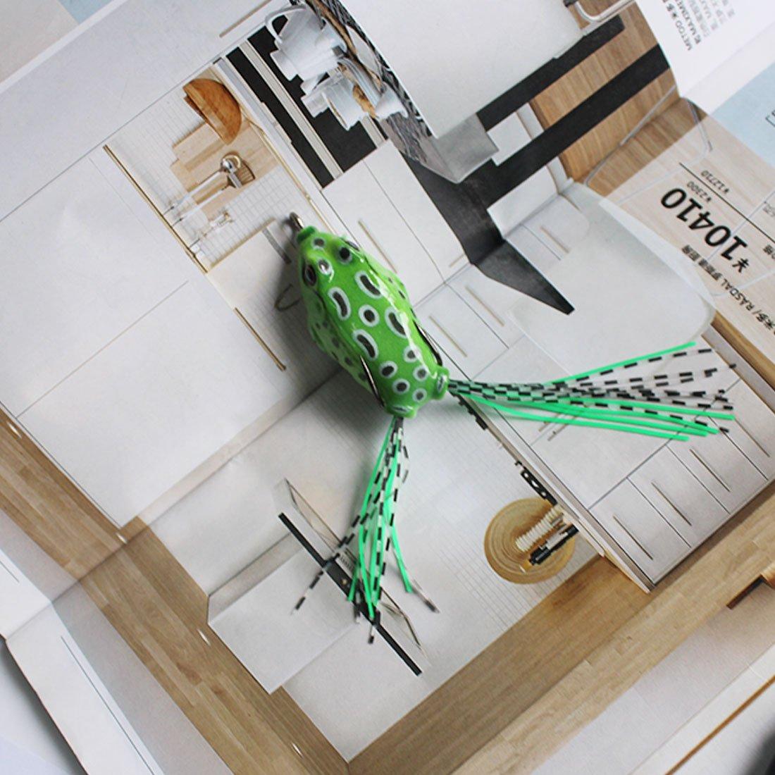 NoyoKere Doux Tube App/ât En Plastique Leurres de P/êche Artificielle Grenouille Leurre Aigus Crochets Ray Frog Artificielle Doux App/ât 5.5 CM 8G