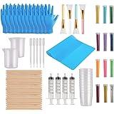 Yaromo 82 Pieces Epoxy Glitter Tumblers Kit, Includes Magic Epoxy Brush, Fine Glitter, Measuring Cups, Measuring Beaker…
