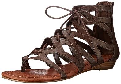 9c15d4731 Rampage Women s Santini Cutout Lace-Up Open Toe Ankle Strap Gladiator Sandal