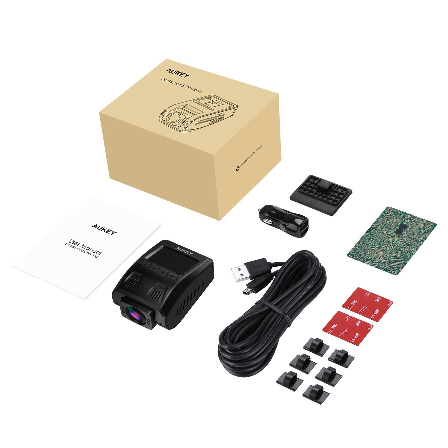 AUKEY-Dash-Cam-Dashboard-Camera-Recorder-with-Full-HD-1080P-6-Lane-170-Wide-Angle-Lens-Supercapacitor-G-Sensor-and-Clear-Nighttime-Recording