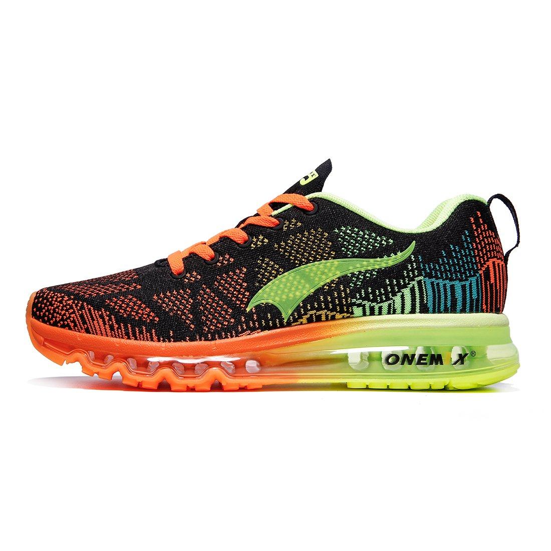 onemix Leicht Damen Laufschuhe Gute Qualität Sneaker Air Cushion WomenRunning Shoes Black Fluorescent Green